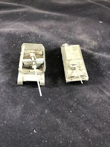 Lot-Of-Two-ROCO-HO-SPZ-Lang-Tank-And-AUF-SFL-88cm-Flak-Cannon