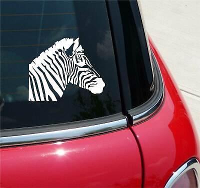 ZEBRA HEAD ZEBRAS HORSE HORSES GRAPHIC DECAL STICKER ART CAR WALL DECOR