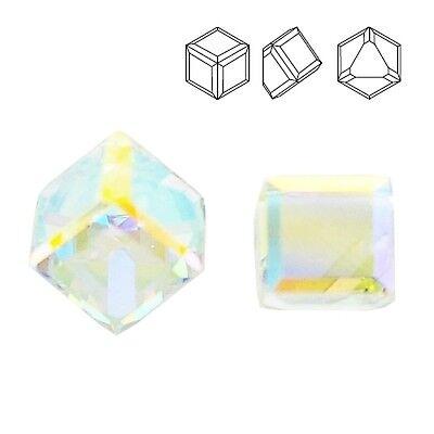 Swarovski 4841 Cube 6 mm Crystal Comet Argent Light VZ price for 1 piece