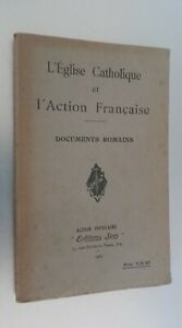 CHIESA Cattolica E AZIONE Francaise Documenti Romani Ed.spes 1927 Spilla
