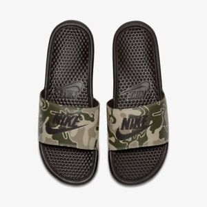 6e65c581781bca MENS NIKE Benassi Just Do it Print Sandals Slippers SIZE 8 EUR 43 ...