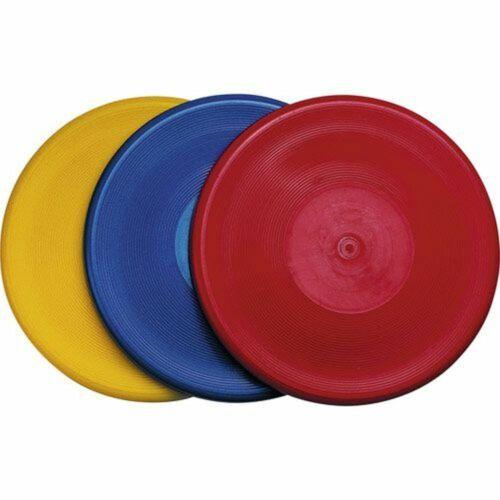 Wurfscheibe Weichplastik Frisbee gelb blau rot sortiert