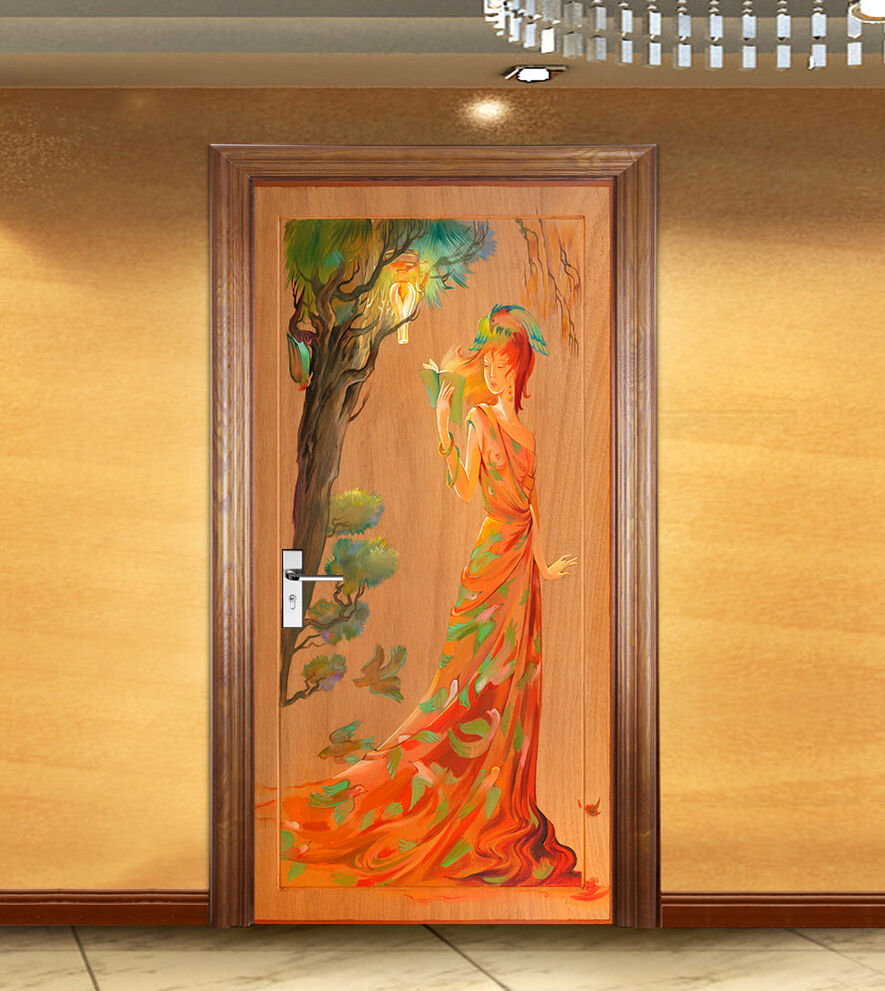 3D Schönheit Tür Wandmalerei Wandaufkleber Aufkleber AJ WALLPAPER DE Kyra