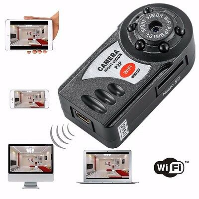 Q7 Wireless WiFi IP Mini DV Camera Camcorder Digital Video Recorder Night Vision