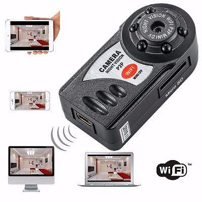 Q7 Wireless WiFi IP Mini DV Camera Camcorder Digital Video Recorder Night Vision