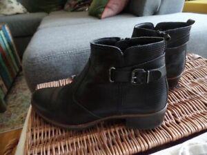 Details zu Pier One Zalando Stiefeletten Halbschuhe Boots Leder Echtleder schwarz 38