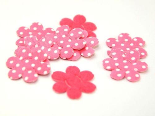 Polka Dot Flower Shape Padded Felt Motifs HAB-6235-M
