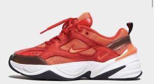 rojas Reino para tamaño 5 de con M2k Zapatillas Tekno Nike del 4 cordones cordones Unido mujer tSxqBwzP