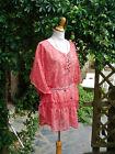 superbe mini robe tunique voile corail 46/48 42/44 (oversize) féminin