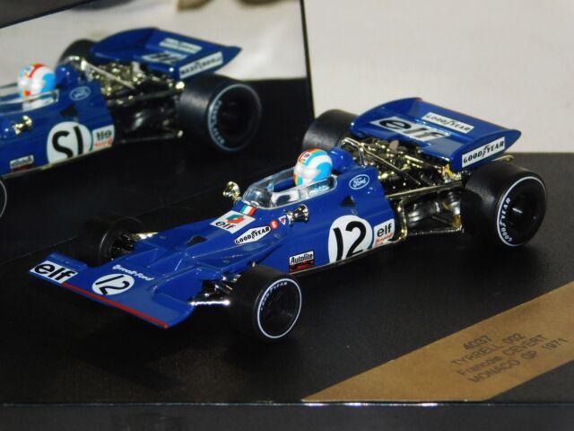 TYRRELL 002 F. CEVERT #12 MONACO GP 1971 QUARTZO 4037 1:43