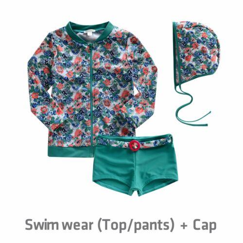 """NWT Vaenait Baby Toddler Kids Girls Rashguard Swimsuit Set /""""Secret Cobalt/"""" 2T-7T"""