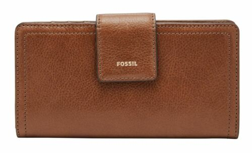 FOSSIL Logan RFID Tab Clutch Geldbörse Brown Braun Neu