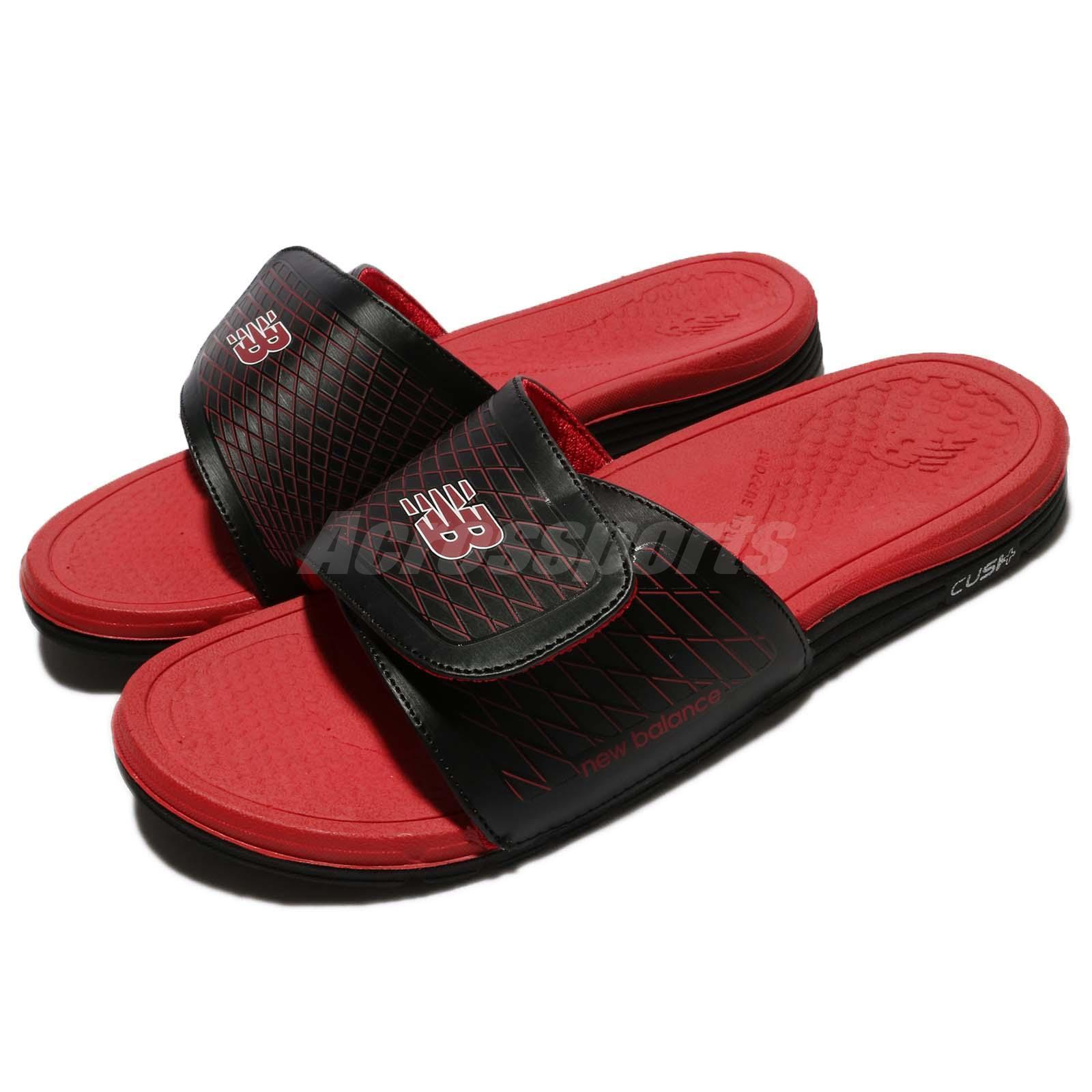 New Balance M3064BRD D Red Black Men Sports Sandal Slide Slippers M3064BRDD