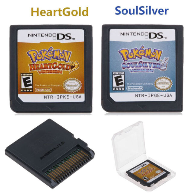 Pokemon SoulSilver HeartGold Game Card For 3DS NDSI NDS NDSL 2DS XL UK  Version