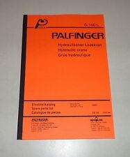 Teilekatalog / Spare Parts List Palfinger Krane G 100 L Stand 10/1994