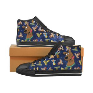 Cartoon Scooby Doo Lace Up Sneakers Classic High Top Canvas shoes for Women