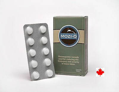MOZI-Q 60  Edible, All Natural, Insect Repellent - Mosquitos, Ticks and Bed Bugs