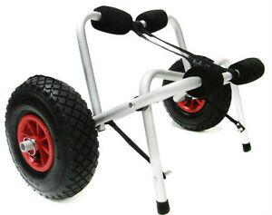 New-Kayak-Canoe-Jon-Boat-Carrier-Dolly-Trailer-Tote-Trolley-Transport-Cart-Wheel