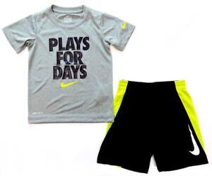 5ef7ae430766 Nike Boys 2-Piece Dri-Fit Shirt and Short Set - NEW / NWT | eBay