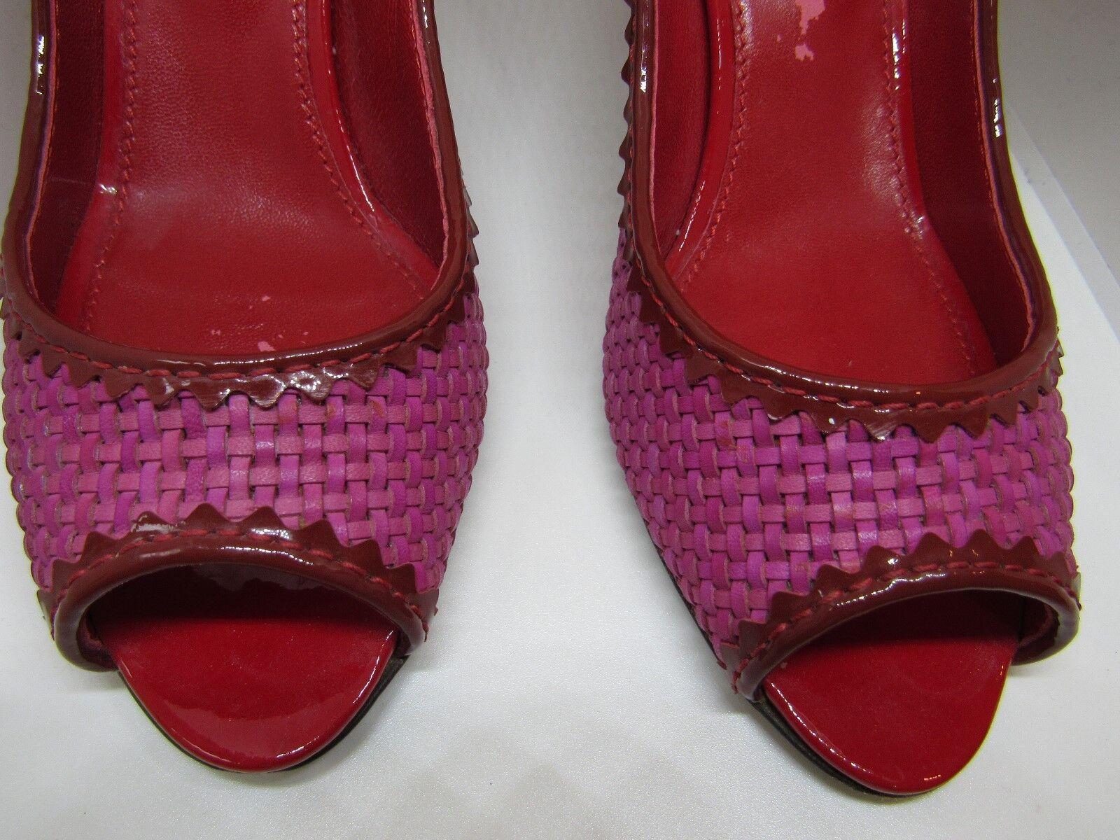 Sergio Rossi Pink ROT Woven Peep Toe Heel Pumps Pumps Pumps Größe EU 36 b71fb6
