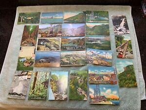 Lot-of-24-Antique-Postcards-Franconia-Notch-Mt-Washington-etc-NH-New-Hampshire