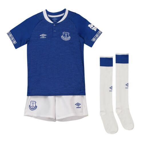 11//12yrs 7//8 Umbro Everton Unisex Junior Kid/'s Home Full Kit 2018//19 Size
