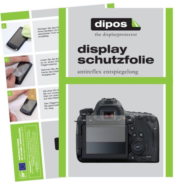 6x Canon Eos 6d Mark Ii Film De Protection D'écran Protecteur Antireflet Dipos Larges VariéTéS