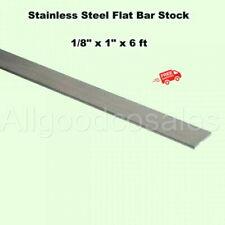 Stainless Steel Flat Bar Stock 18 X 1 X 6 Ft Rectangular 304 Mill Finish