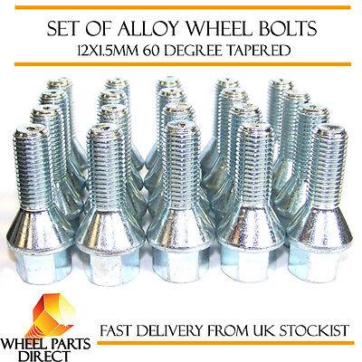 Alloy Wheel Bolts (20) 12x1.5 Nuts Tapered For Vauxhall Senator [b] 87-93