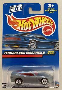 2000-HotWheels-FERRARI-550-Maranello-Grigio-Nuovo-di-zecca-MOC
