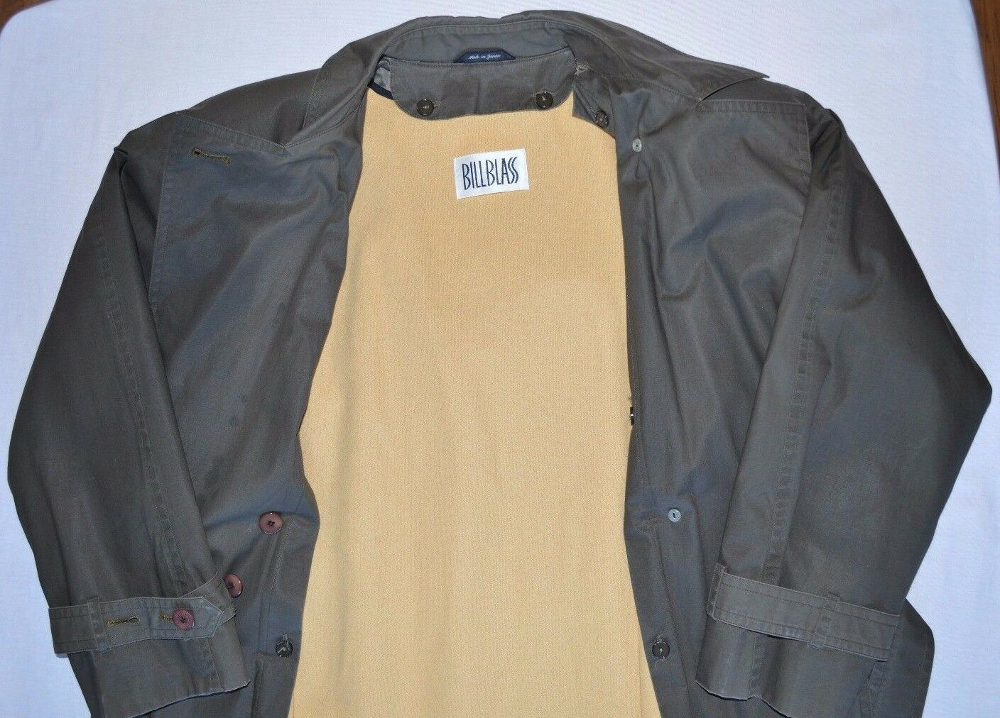Bill Blass Trench Coat Removable Wool Lining Wome… - image 3