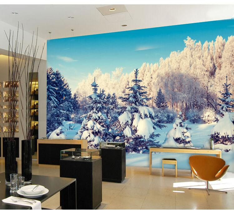 3D Neve spessa 35 Parete Murale Foto Carta da parati immagine sfondo muro stampa