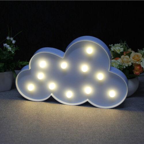 3D Lovely Sky Title Bedside Wall Lamp Moon Star Cloud LED Night Light Room Decor