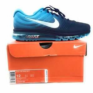 Details about Nike Air Max 2017 Running Shoes Binary Glacier Blue 849559 404 Size 12