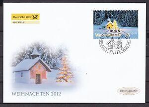 BRD 2012 Deutsche Post FDC MiNr. 2966 selbstklebend  Weihnachten
