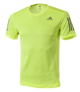 Details about Adidas Men OWN THE RUN S/S Shirts Training Lime Jersey Tee Casual Shirt DX1316