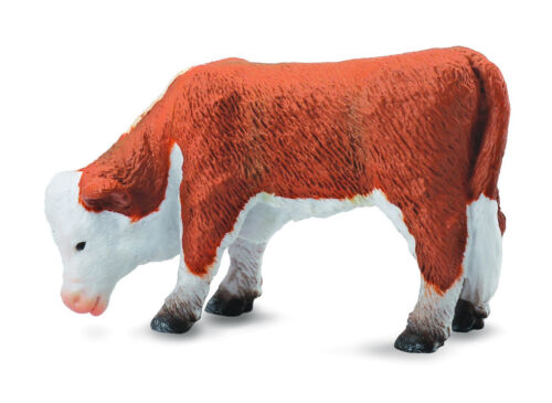 *NEW* CollectA 88242 Hereford Calf Grazing Cow Cattle Bull Model 6.5cm