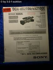 Sony Service Manual DCR VX2100 /VX2100E Level 3 Digital Video Camera (#4784)