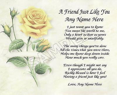 Personalized Poem Memory Birthday Thank