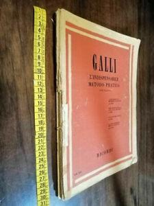 libro -GALLI - L'indispensabile metodo pratico per flauto  SPARTITO