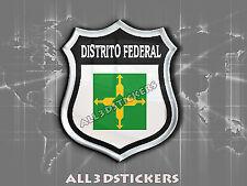 3D Emblem Sticker Resin Domed Flag Distrito Federal (Brasilia) - Adhesive Decal