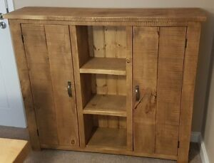 NEW-SOLID-RUSTIC-CHUNKY-WOOD-SIDEBOARD-WOODEN-STORAGE-CUPBOARD-MADE-TO-MEASURE