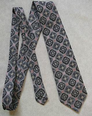 Mettere In Guardia Vintage Tootal Cravatta Da Uomo Vasta Cravatta Retro Moda Nero Rosa Scuro-mostra Il Titolo Originale Non-Stireria