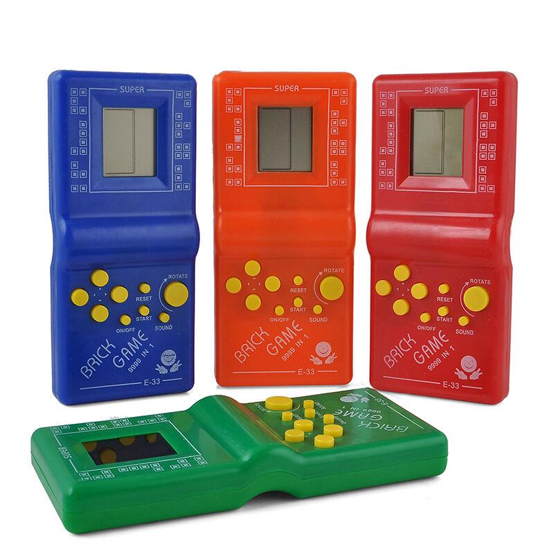 80s Electronic Toys : S nostalgic tetris brick game console lcd electronic