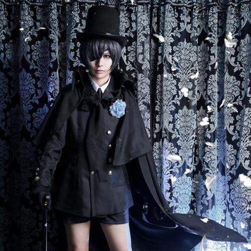 Black Butler Cosplay Ciel Phantomhive Cosplay Costume Men Black Suit Halloween