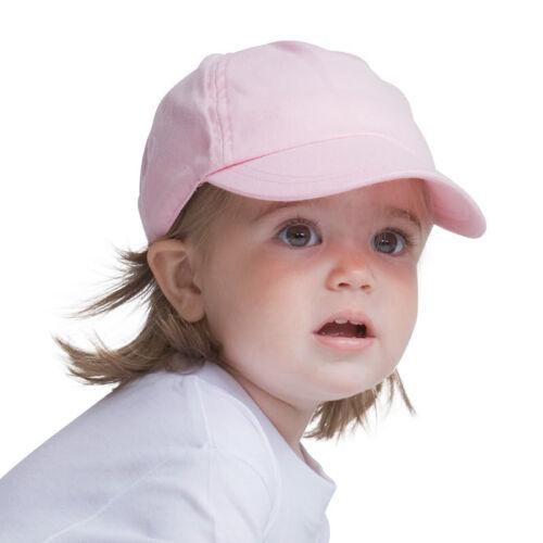 Larkwood baby bambino morbido picco Sun Cap Ragazzi Ragazze Elasticizzato Da Baseball Cappello Nuovo