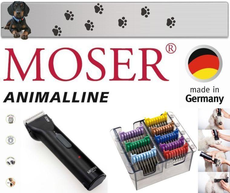 Moser Arco Tosatrice per Cani + Acciaio Inox Testina - Set 3 - 25 Mm