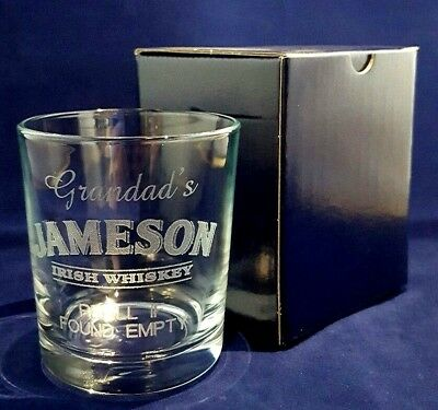 PERSONALISED WHISKEY GLASS BEST MAN GIFT FATHER OF THE BRIDE GIFT WEDDING TOAST