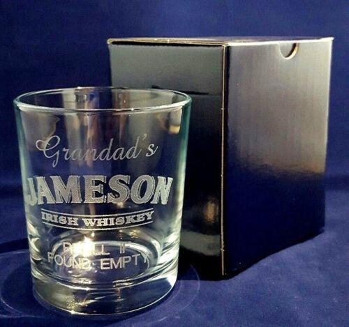 Personnalisé Gravé JAMESON whisky verre meilleur homme père de la Mariée Cadeau