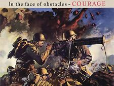 ART PRINT POSTER PROPAGANDA WWII WAR ENLIST ARMY USA GUN SOLDIER NOFL1010